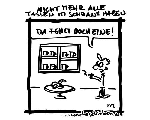 Wacheschieben - Jede Woche ein neuer Cartoon